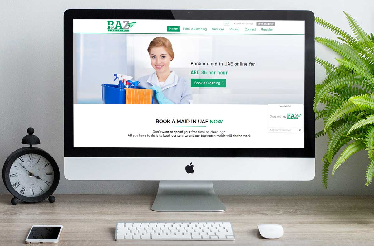 Baz-Clean_Website-Development